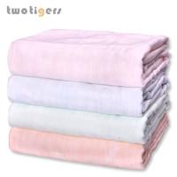 兩只老虎 兒童蓋毯寶寶午睡薄款棉毯