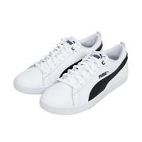 PUMA/彪馬365208- 01Puma Smash Wns v2 L女款休閑鞋白黑色
