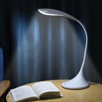 良亮 LED臺燈 兒童臥室宿舍床頭閱讀燈 三檔調節色溫 8868 6W 珍珠白 白色