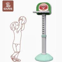 丘巴 兒童玩具籃球架 薄荷綠-籃球架