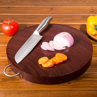 紅鐵木砧板實木家用廚房圓形菜墩防霉整木案板切菜板