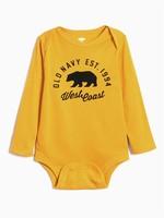 OLD NAVY 嬰兒徽標長袖連體衣