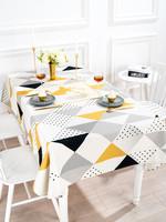 桌布布藝ins北歐棉麻小清新長方形茶幾餐桌布現代簡約電視柜桌布
