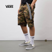 Vans范斯 男子梭織短褲 迷彩印花夏季工裝風官方正品