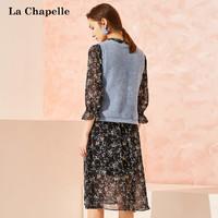 La Chapelle 拉夏貝爾 雪紡連衣裙兩件套裝