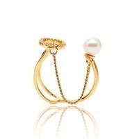 貳叁飾 鏈條珍珠戒指 單只