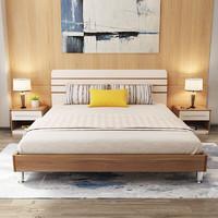 A家家具 北歐實木雙人床 1.5米