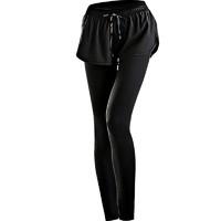 曼 女士健身褲假兩件 847黑色