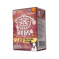 比瑞吉鮮磚 雞肉牛肉南瓜幼犬罐頭 6盒裝×2