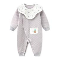 新生兒保暖衣服純棉寶寶冬裝嬰兒連體衣0-3-6-18個月