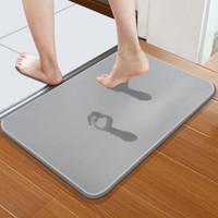 惠鈺 硅藻泥地墊腳墊 浴室衛生間廚房防滑墊60*39cm HY-D002