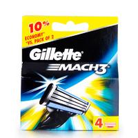 吉列(GILLETTE)鋒速3男士剃須刀片4片裝 香港直郵
