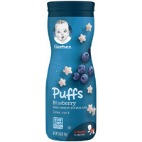 移動端 : 嘉寶(Gerber)全麥藍莓味星星泡芙膨化 3段 42g/桶裝 寶寶零食點心 原裝進口 8個月以上