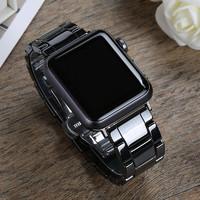 多騰 蘋果apple watch陶瓷不銹鋼表帶,通用1/2/3/4/5代