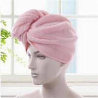 金號毛巾家紡 純棉柔軟吸水干發巾 包頭毛巾 干發帽 浴帽 粉色