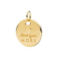 PANDORA 潘多拉 Shine愛的告白吊墜簡約DIY頸飾 金黃色 367351EN23