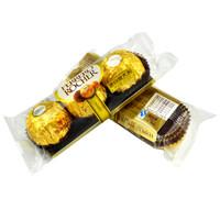 費列羅金莎榛果威化巧克力 結婚婚慶喜糖散裝批發婚禮裝年貨節糖果 3粒裝 *5件
