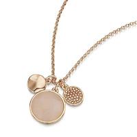 BUCKLEY LONDON 珍珠母貝鑲鉆項墜 玫瑰金色