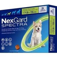 NexGard Spectra 超可信 寵物驅蟲藥 7.5-15kg犬用
