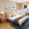 A家 床 雙人床 1.5米1.8米北歐雙人實木框床單人高箱儲物床簡約主臥臥室家具