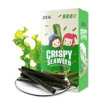 泰國進口(ZEK)休閑零食 烤海苔卷 脆紫菜卷 原味 27g/盒 *16件