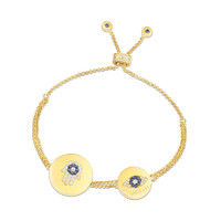 apm MONACO 金黃色純銀鑲晶鉆幸運符號手鏈 AB3572XKBY