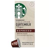 Starbucks 星巴克 危地馬拉膠囊咖啡 兼容Nespresso咖啡機(濃度7) (12包,共120粒膠囊)