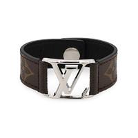 Louis Vuitton 女士LV logo黑花手鏈