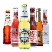 1664 紅果誘惑7號林德曼桃子粉紅殺手星琥石榴果味啤酒 6瓶