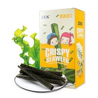 泰國進口(ZEK)休閑零食 烤海苔卷 脆紫菜卷 海鮮味 27g/盒 *2件