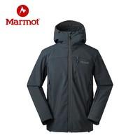 Marmot/土撥鼠秋冬戶外男輕量防潑水彈力透氣M2 抓絨軟殼衣
