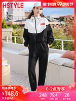 韓都衣舍2019韓版女裝秋裝新款時髦寬松心機兩件套時尚套裝OY8464