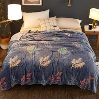卡絢家紡 冬季毛毯珊瑚絨毯子加厚法蘭絨床單空調毯被子單人宿舍學生午睡毯