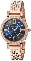 Anne Klein安妮·克萊因 施華洛世奇水晶點綴玫瑰金手鐲手表