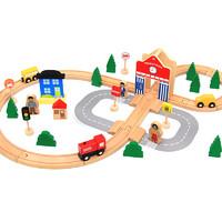 達拉 50件軌道小火車積木玩具