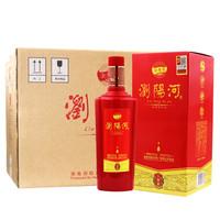 瀏陽河 新韻 52度 濃香型白酒 475ml*6整箱裝(內含禮品袋)
