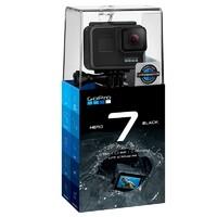 GoPro HERO 7 Black運動攝像機防水防抖黑色 語音控制 有效像素1200萬 運動套裝/套餐