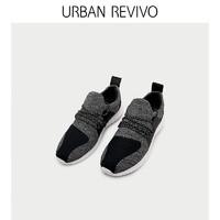 URBAN REVIVO夏季新品男士配飾拼色系帶運動鞋AF14RS5N2000