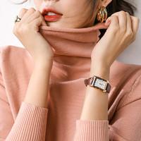 秋冬高領毛衣女加厚的堆堆領修身長袖短款套頭純色針織打底衫大碼 *2件