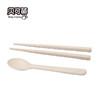 貝可萌 稻殼家用防霉防滑高檔天然兒童便攜式筷子套裝餐具