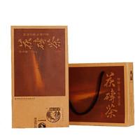黑美人 黑茶安化金花茯磚茶 750g