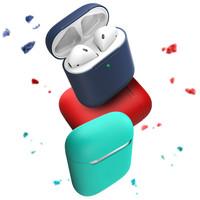 都芝 蘋果 AirPods 硅膠保護套 通用版 + 收納袋 + 防丟繩