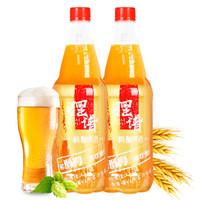 青島擺譜 原漿鮮啤全麥白啤 1L*2瓶