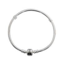 PANDORA 潘多拉 Silver 時尚925銀蛇鏈基礎女士手鏈