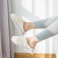 澤熙 冬季棉拖鞋珊瑚絨純色簡約拖鞋 米色 36-37