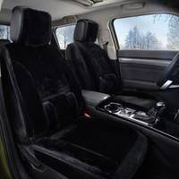 冬季汽車坐墊短毛絨透氣棉墊冬天毛墊全包圍車墊子通用座椅套座墊