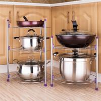 不銹鋼廚房鍋架 2層鍋架