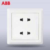 ABB 86型 德逸雅白四孔插座AE212 *5件