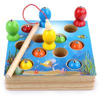 寶寶釣魚玩具磁性套裝