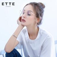 ETTE 大框防藍光金絲多邊形鏡框